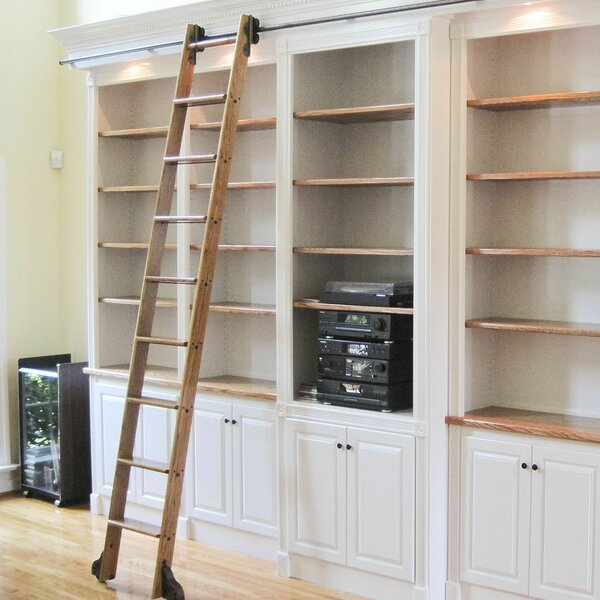 Rolling Library Ladder Wayfair