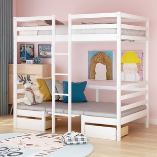 Barbagallo Twin Loft Bed with Desk and 2 Drawers