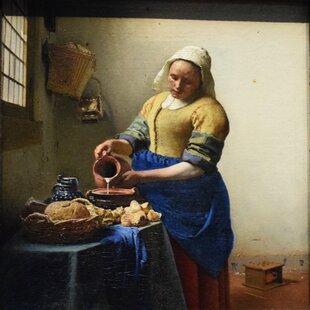 Glass Wine Jan Vermeer Van Delft 1661 Repro Art Photo//Poster Print Satin//Canvas//