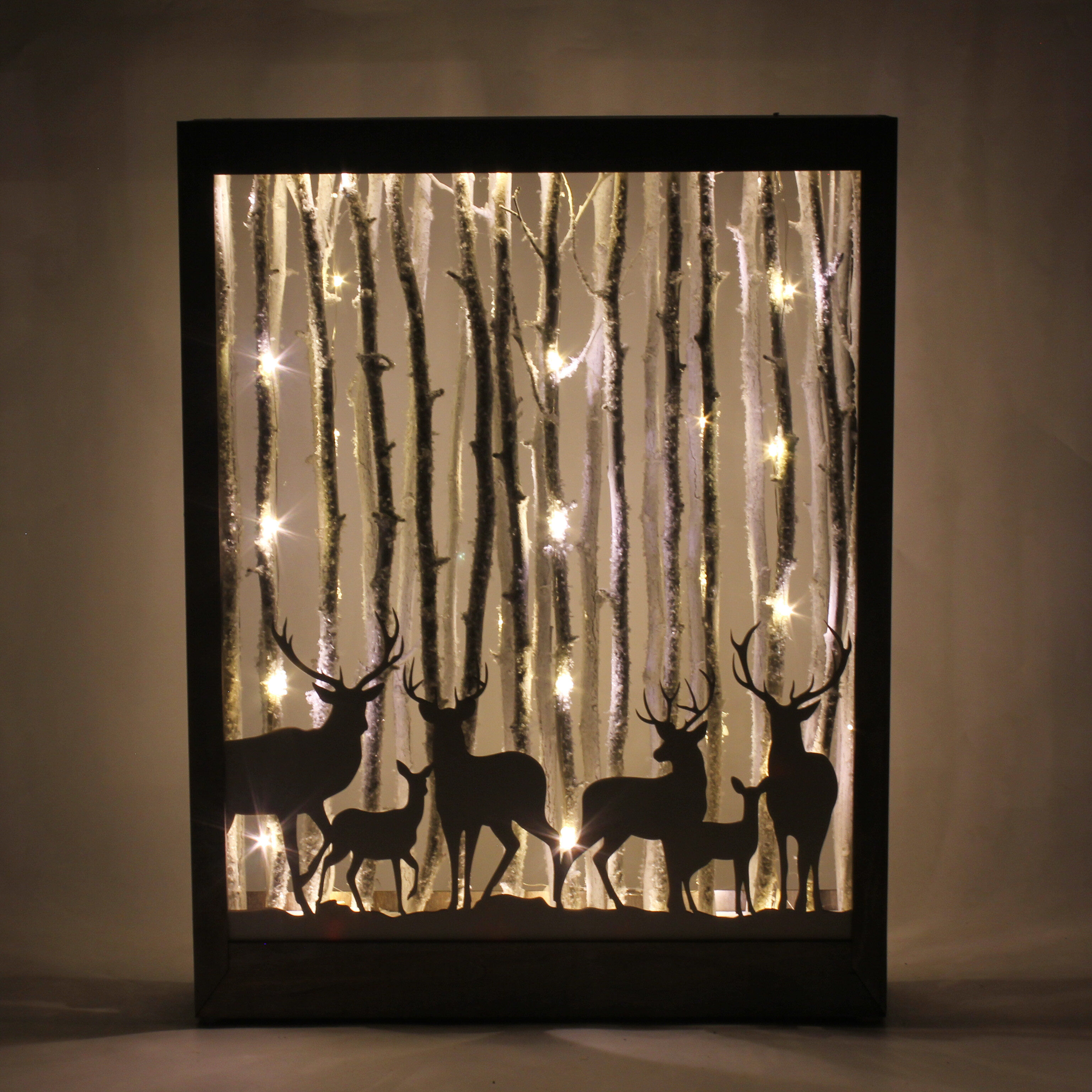 The Holiday Aisle Deers In The Forest Led Light Box Decor Wayfair Ca