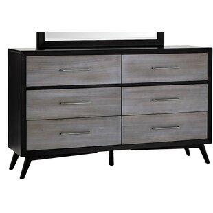Union Rustic Bork 6 Drawers Standard Dresser