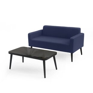 Stein Outdoor 2 Piece Sofa Seating Group with Cushions