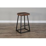 Danita Solid Wood Stool by 17 Stories
