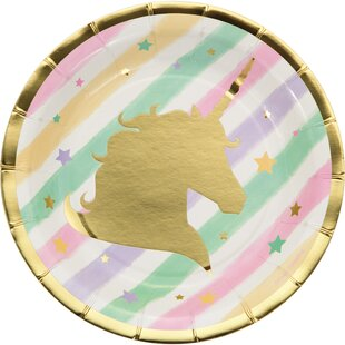 Sparkle Unicorn Appetizer Plate (Set of 24)