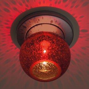 Alcott Hill Carvalho 1-Light Flush Mount