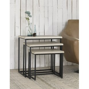 Gracie Oaks Norma 3 Piece Nesting Tables