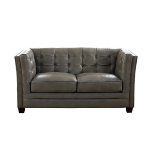 Dierking Leather Loveseat By 17 Stories