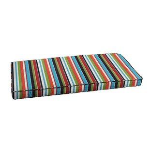 Rosecliff Heights Stripe Indoor/Outdoor Sunbrella Bench Cushion