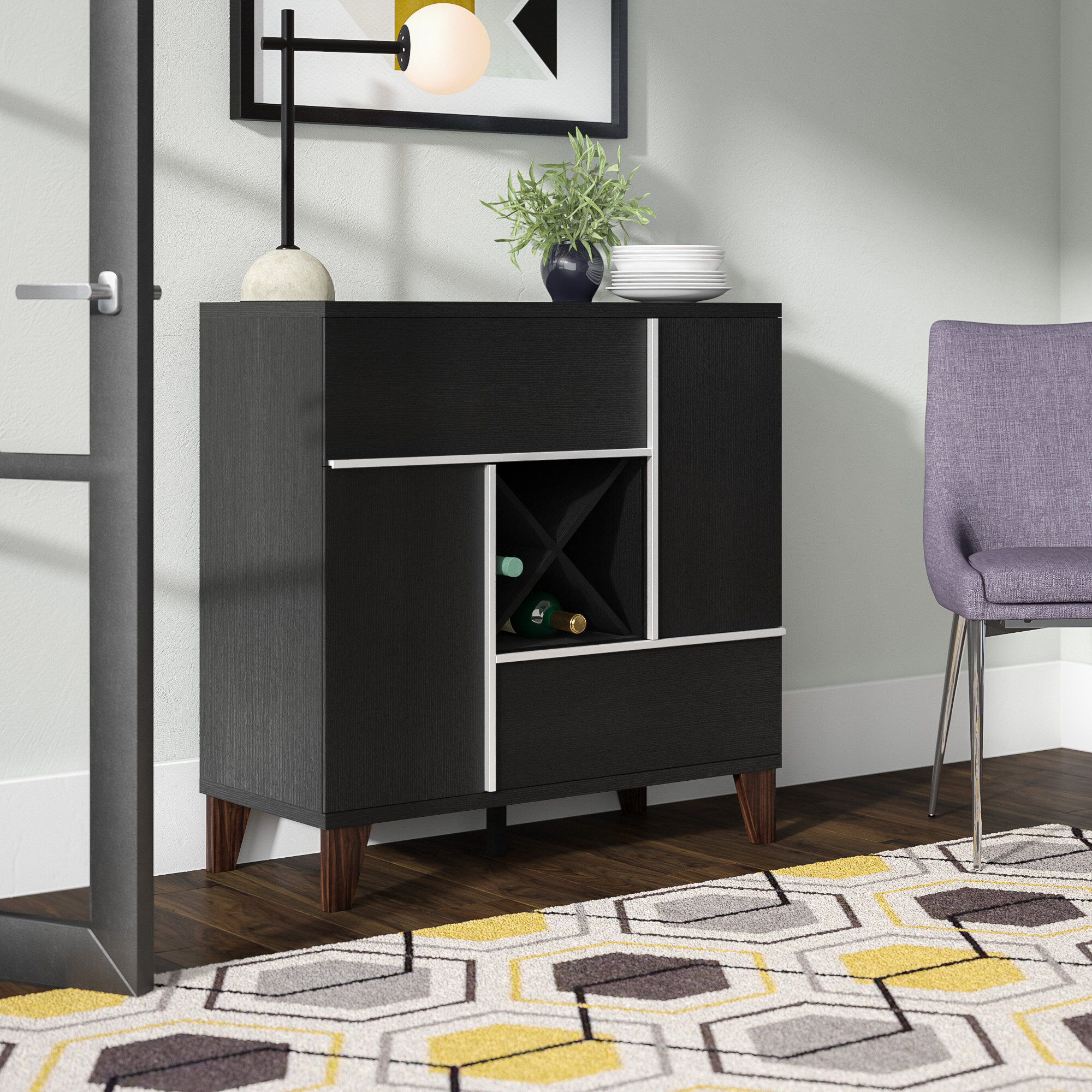 Ivy Bronx Corinthian Contemporary Server Reviews Wayfair