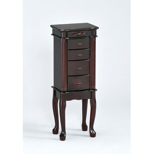 Traditional Jewelry Armoire with Mirror by Wildon Home�