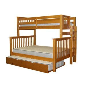 Mission Twin over Full Bunk Bed with Trundle by Bedz King