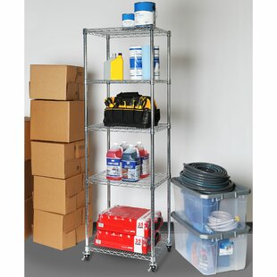 Seville Classics 5-Tier UltraZinc™ NSF Steel Wire Shelving with Wheels