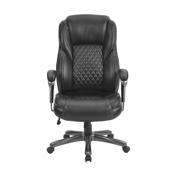 Keepwalking Homeoffice Big And Tall Pu Leather Office Chair Ergonomic Computer Chair High Back Pu Executive Chair Black Wayfair