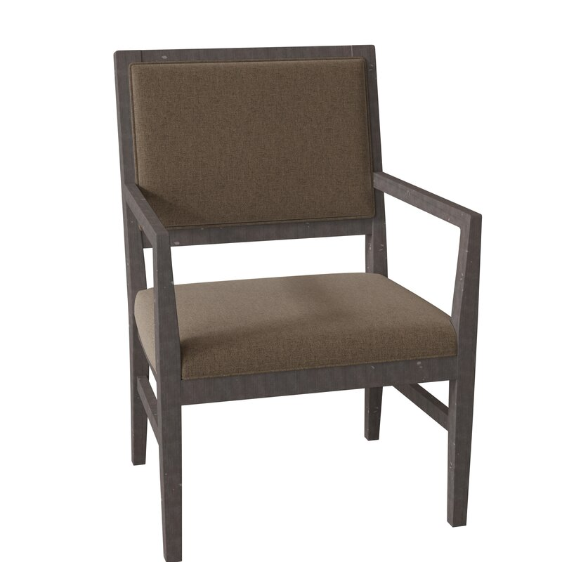 Fairfield Chair Potter Upholstered King Louis Back Arm Chair