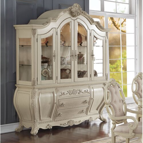 A J Homes Studio Versailles China Cabinet Wayfair