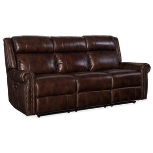 Shop Esme Leather Reclining Sofa by Hooker Furniture