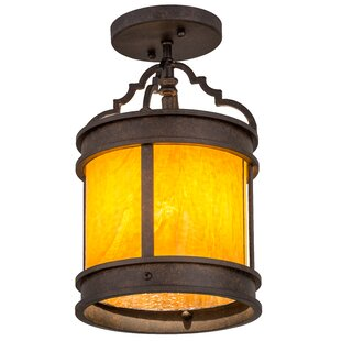 Meyda Tiffany Wyant 1-Light Semi Flush Mount