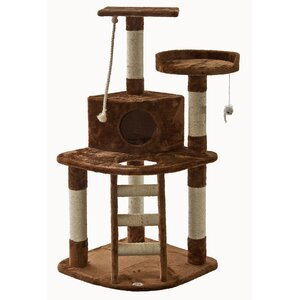 47″ Cat Tree with Ladder & Rope