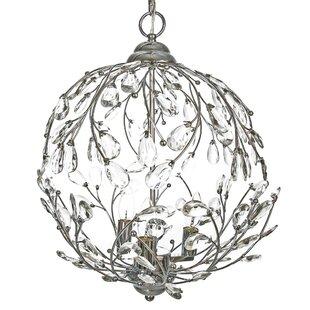 Orren Ellis Filsaime Garden Glam 3-Light Globe Pendant