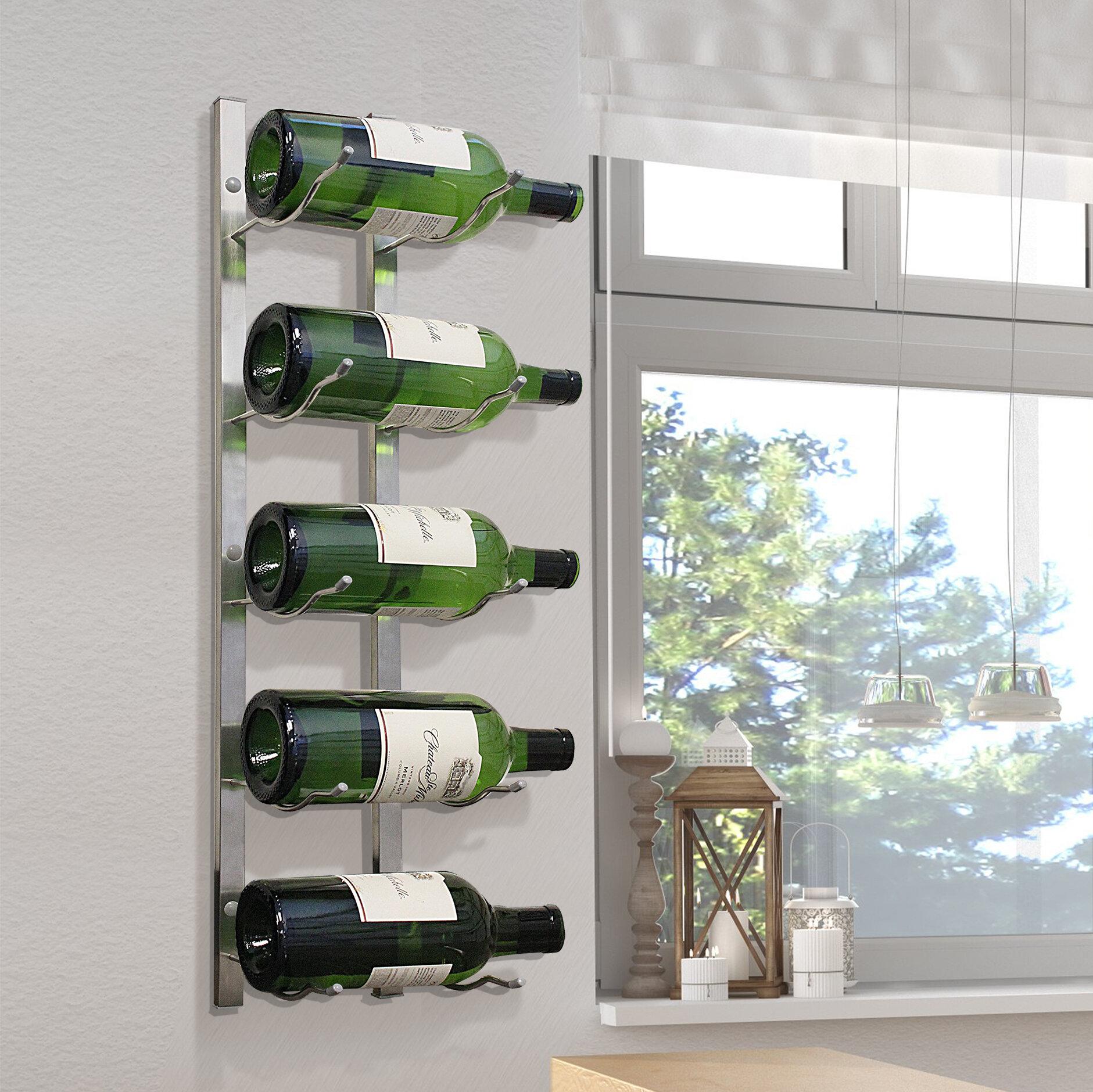 metal wine rack wall hanging