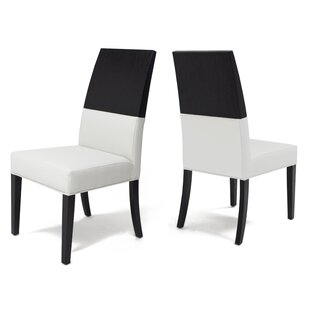 Almyra Upholstered Dining Chair (Set of 2) Everly Quinn