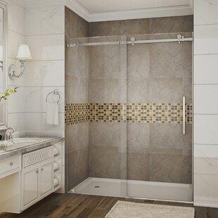 Moselle 60 x 75 Single Sliding Completely Frameless Shower Door