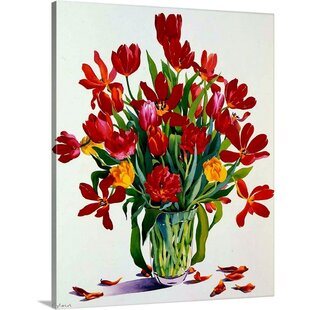 Orange Tulips Floral Plant Wall Art You Ll Love In 2021 Wayfair