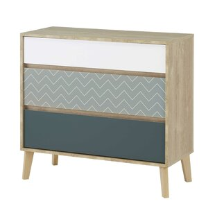 Hennessey Lina 3 Drawer Chest By Mercury Row