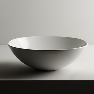 Read Reviews Pod Ceramic Circular Vessel Bathroom Sink ByWS Bath Collections