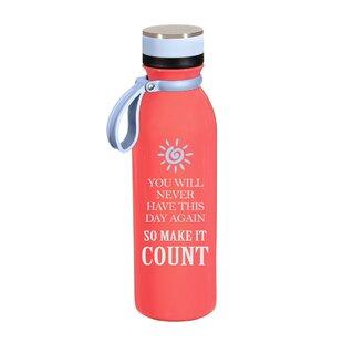 Bursten Make It Count 20 oz. Stainless Steel Water Bottle