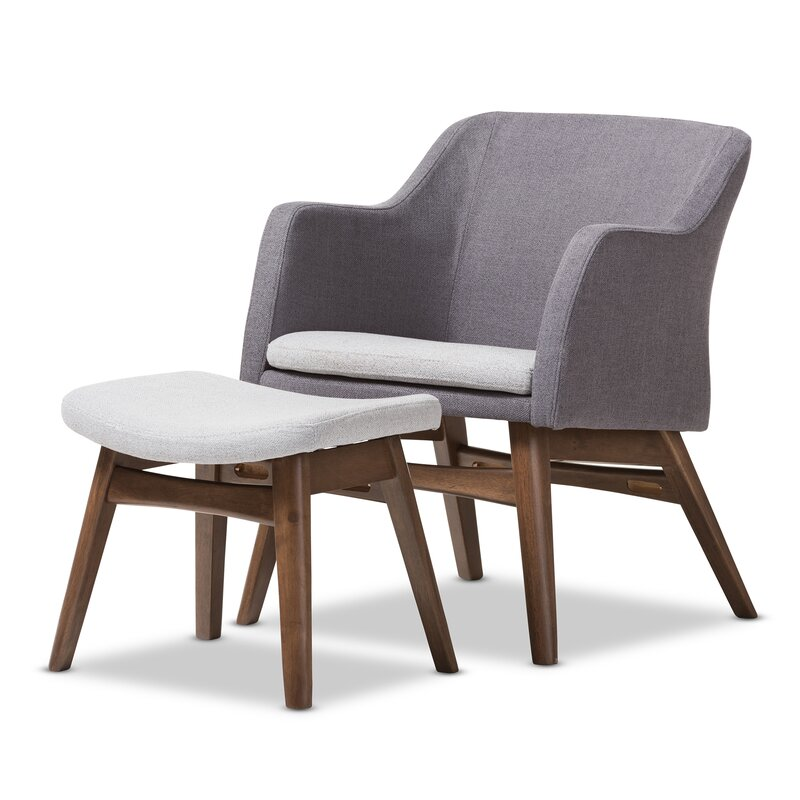 Charmant Victoria Mid Century Modern Lounge Chair And Ottoman