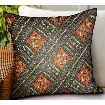Maday Geometric Luxury Indoor/Outdoor Throw Pillow by World Menagerie No Copoun