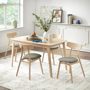Grow 5 Piece Solid Wood Dining Set George Oliver