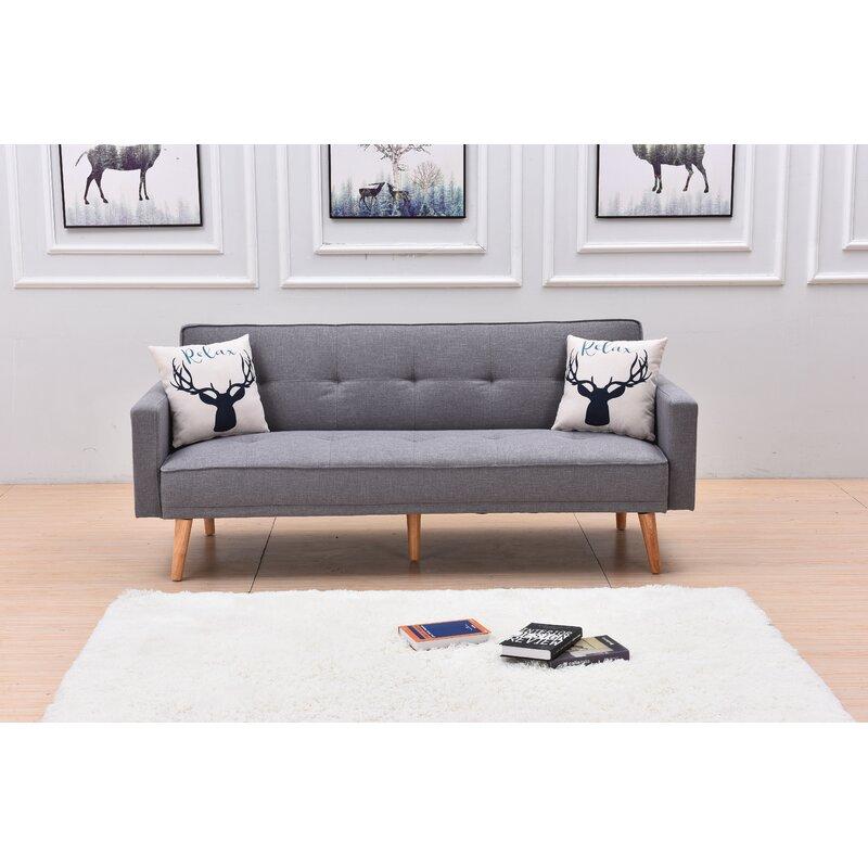 "Corrigan Studio® Lars Twin Or Smaller 78"" Tight Back Convertible Sofa | Wayfair"