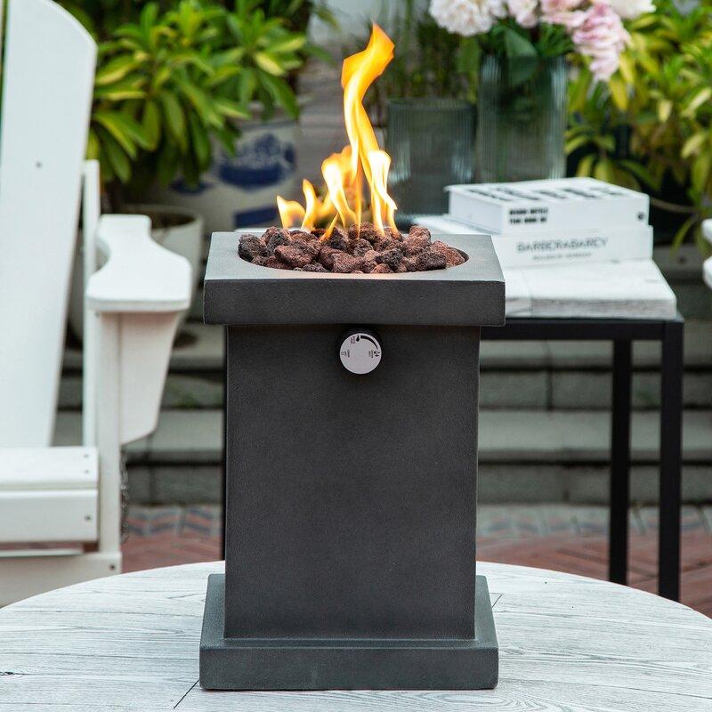 17 Stories Avksenti Table Top Concrete Propane Natural Gas Fire Column Wayfair