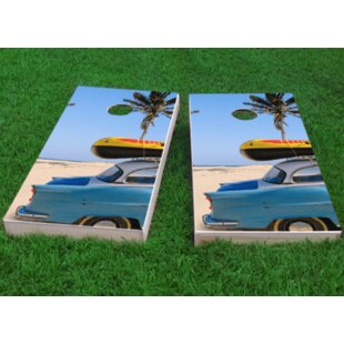 Custom Cornhole Boards Beach Car Theme Cornhole Game (Set of 2)