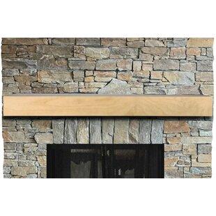 Horizontal Grain Fireplace Shelf Mantel By Bar Harbor Cedar