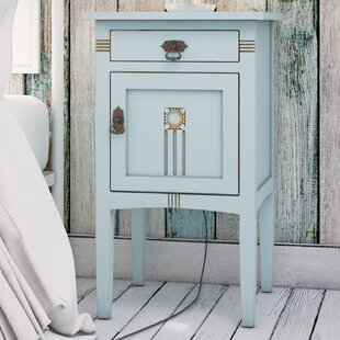 Corrie 1 Drawer Nightstand by August Grove