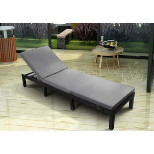 Manon Reclining Sun Lounger With Cushion By Sol 72 Outdoor