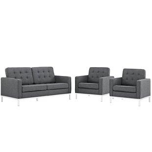 Gayatri 3 Piece Living Room Set