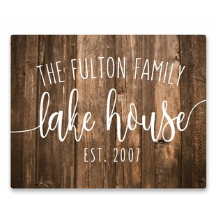 Personalized Lake House Signs Wayfair Ca