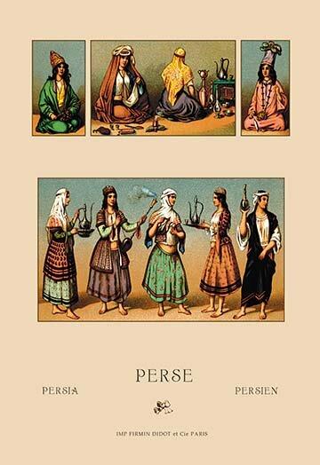Buyenlarge Traditional Dress Of Persia 1 By Auguste Racinet Vintage Advertisement Wayfair