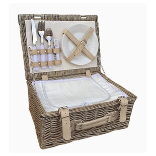 2 Person Fitted Picnic Basket With Chiller By Brambly Cottage