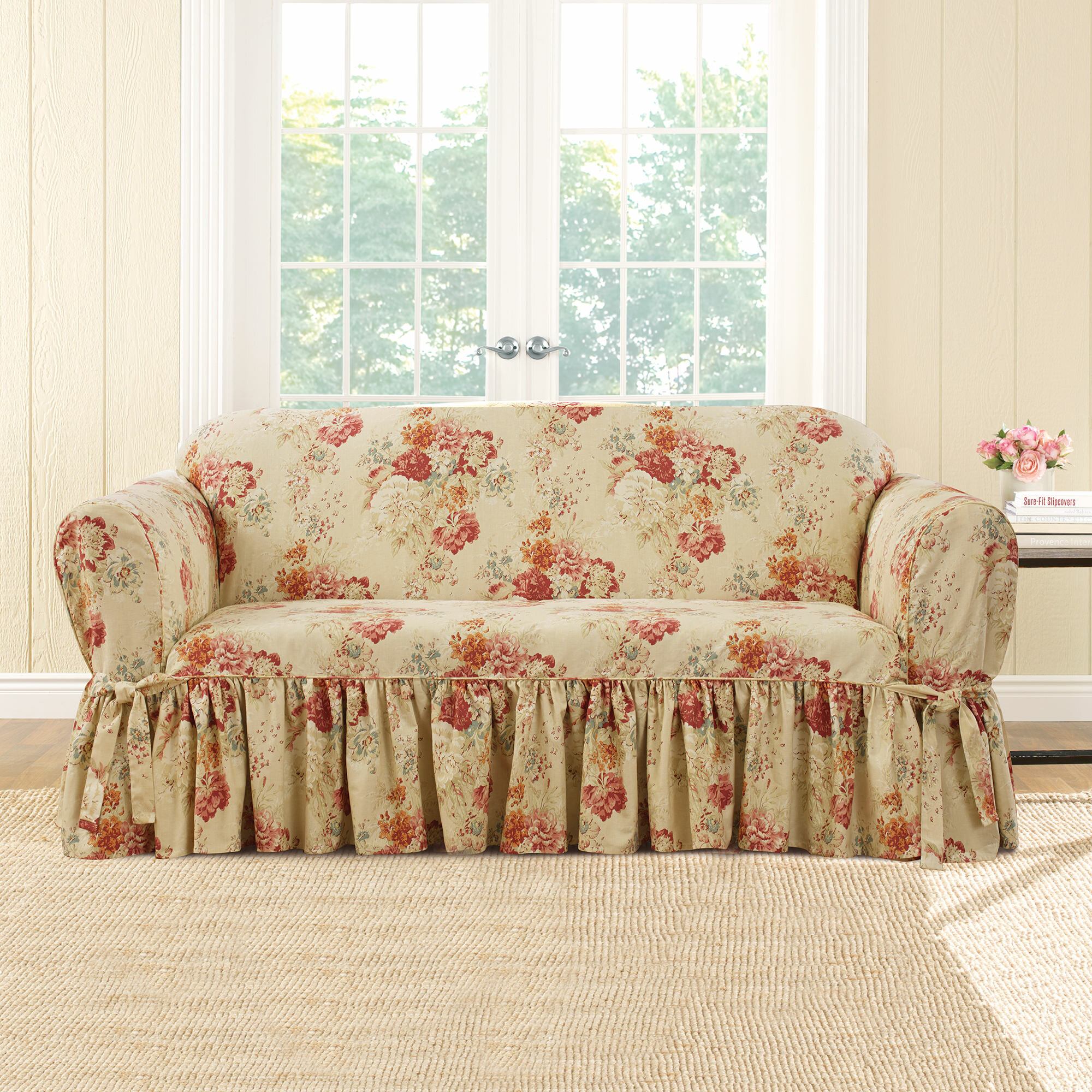 Fabulous Ballad Box Cushion Loveseat Slipcover Gmtry Best Dining Table And Chair Ideas Images Gmtryco