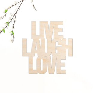 Live Laugh Love Wood Sign Wall Decor
