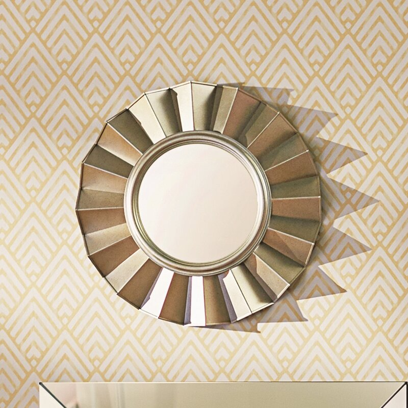 Vertical Round Wall Mirror