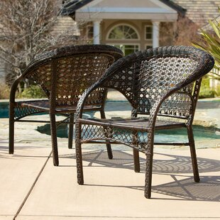 Darlington Outdoor Wicker Chairs (Set of 2)