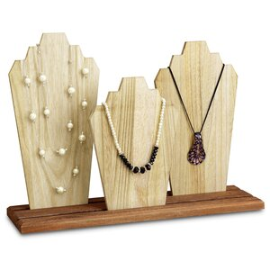 Wooden Necklace Holder Jewellery Display Bust Stand