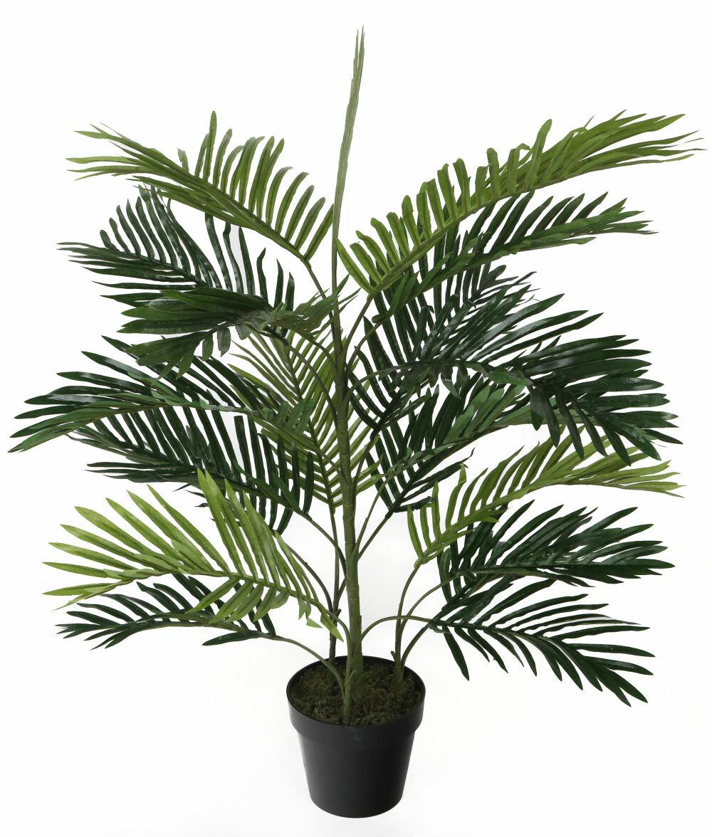 Bay Isle Home Artificial Floor Palm Tree In Pot Wayfair