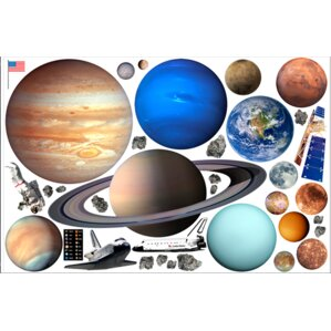 Outer Space Wall Decal Part 45